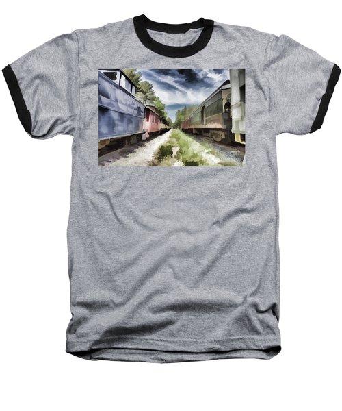 Twixt The Trains Baseball T-Shirt
