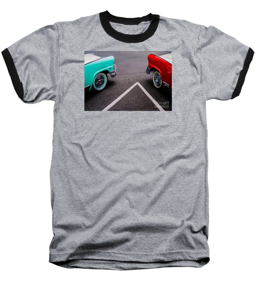 Baseball T-Shirt featuring the photograph Two 1958 Ford Crown Victorias by M G Whittingham