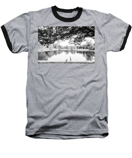 Baseball T-Shirt featuring the photograph Two At The Pond by Karol Livote