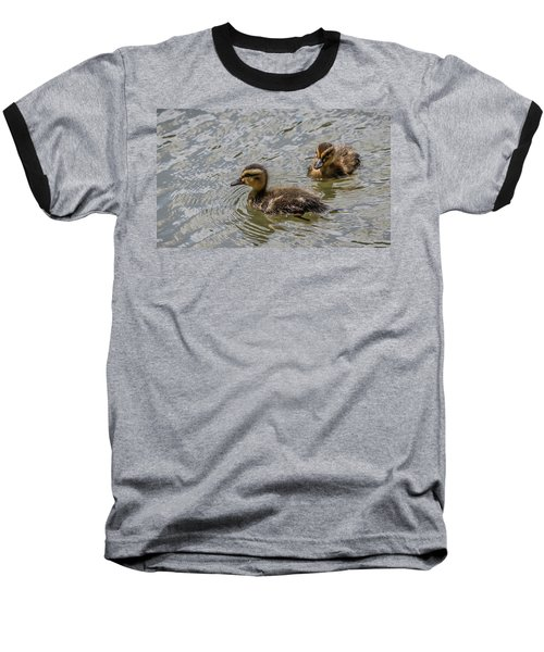 Two Baby Ducks Baseball T-Shirt