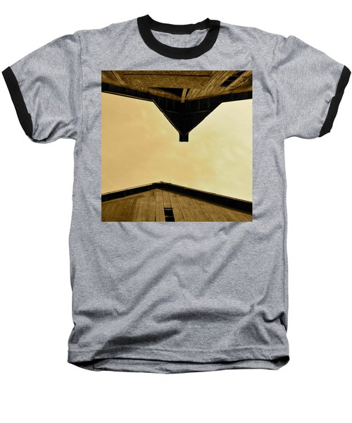 Two Barns In Sepia Baseball T-Shirt