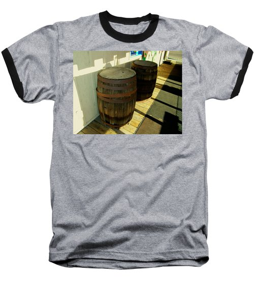 Baseball T-Shirt featuring the photograph Two Barrels by Lenore Senior