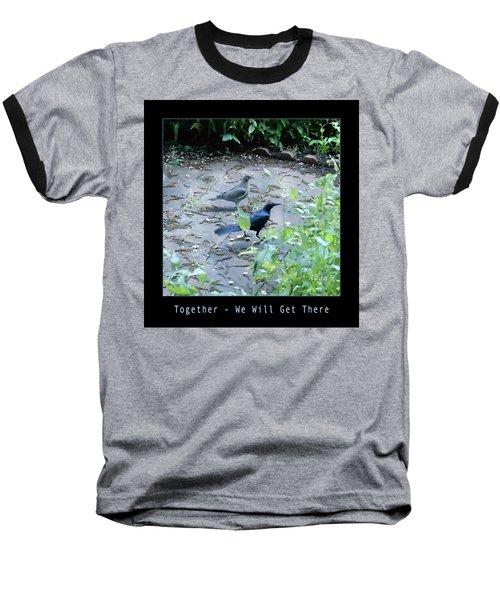 Two Birds Blue Baseball T-Shirt by Felipe Adan Lerma