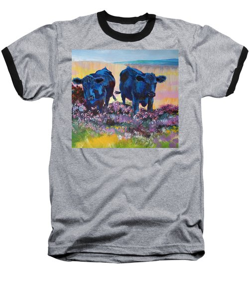 Two Black Cows On Dartmoor Baseball T-Shirt