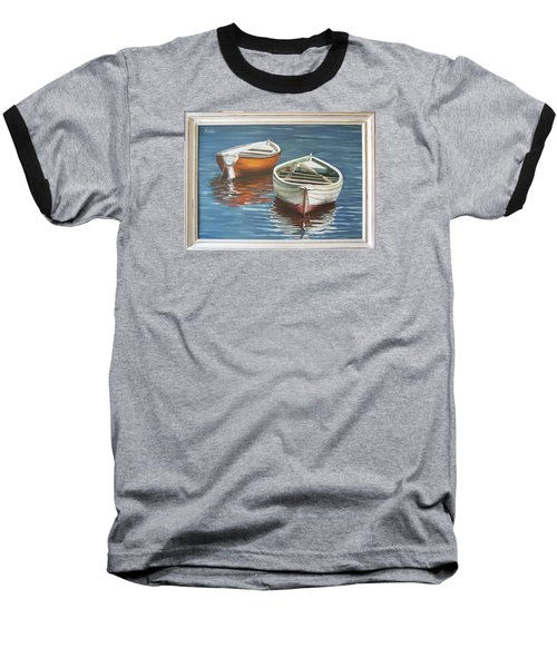 Baseball T-Shirt featuring the painting Two Boats by Natalia Tejera
