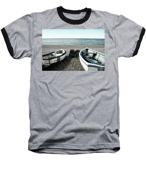 Two Boats On Seaford Beach Baseball T-Shirt