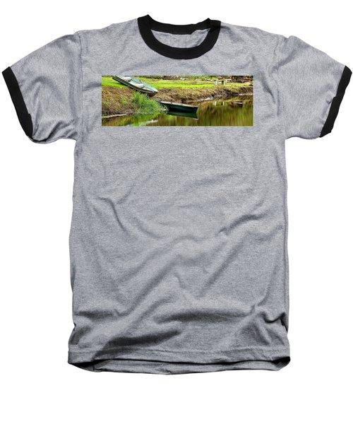 Two Boats Reflection 1024 Baseball T-Shirt