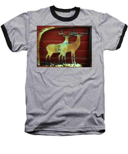 Baseball T-Shirt featuring the photograph Two Bucks 1 by Larry Campbell