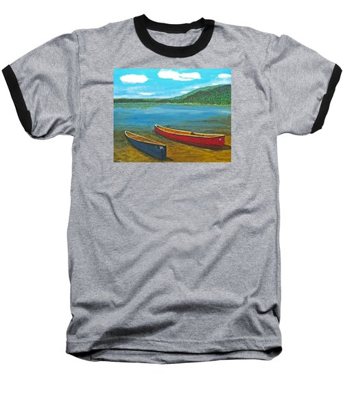 Two Canoes Baseball T-Shirt