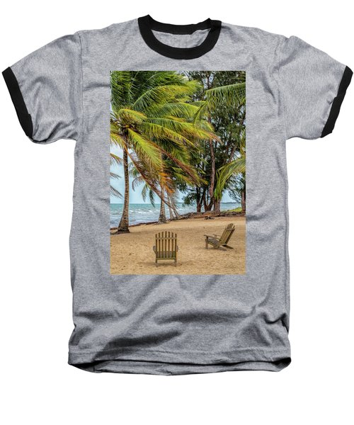 Two Chairs In Belize Baseball T-Shirt