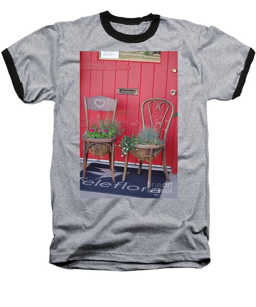 Two Chairs With Plants Baseball T-Shirt