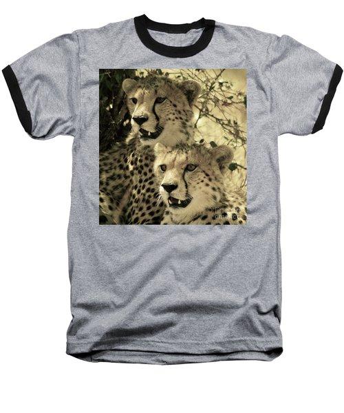 Two Cheetahs Baseball T-Shirt