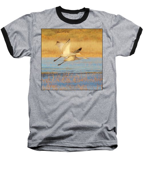 Two Cranes Cruising Baseball T-Shirt