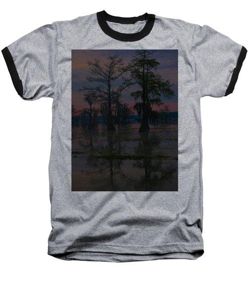Two Cypress At Dawn Baseball T-Shirt by Kimo Fernandez