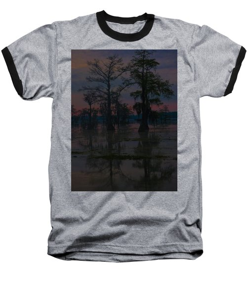 Two Cypress At Dawn Baseball T-Shirt