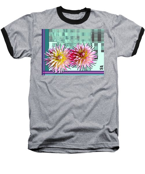 Two Dahlias Baseball T-Shirt