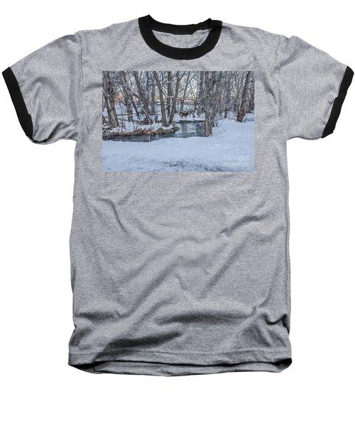 Two Deer At Sunset Baseball T-Shirt
