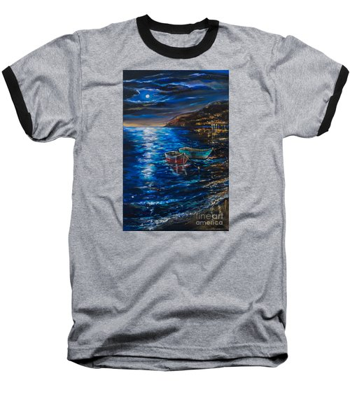 Baseball T-Shirt featuring the painting Two Dinghies by Linda Olsen