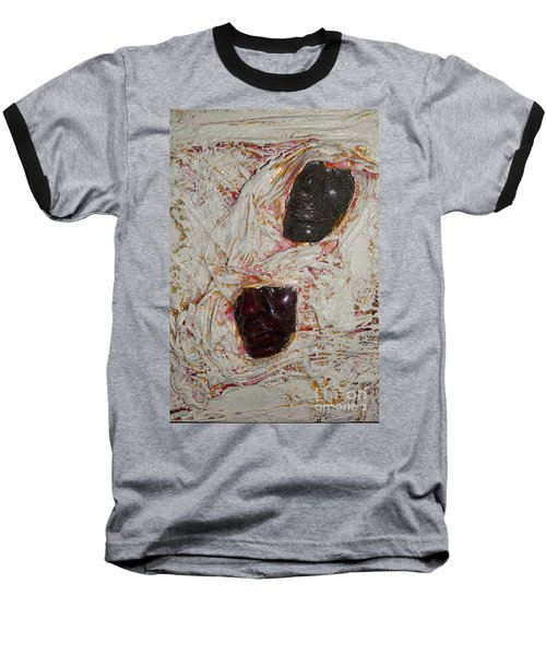 Two Faces Baseball T-Shirt by Gallery Messina