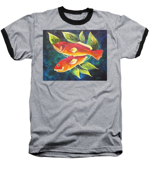 Two Fish Baseball T-Shirt