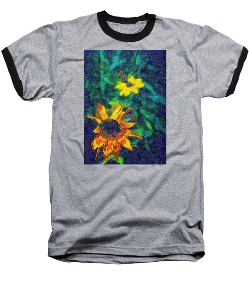 Two Flowers Baseball T-Shirt