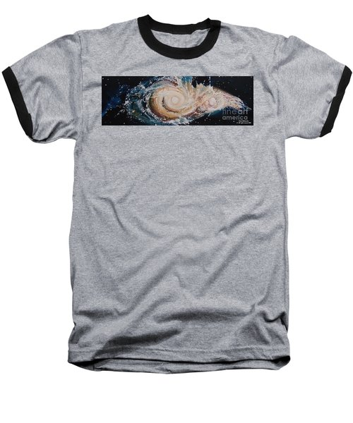 Two Galaxies Colliding Baseball T-Shirt