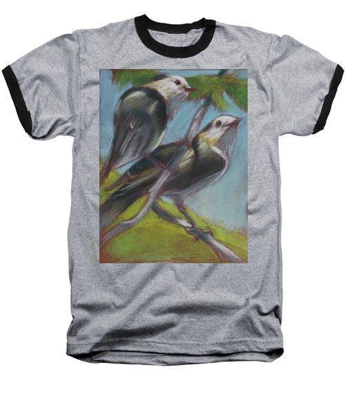 Two Gray Jays Baseball T-Shirt