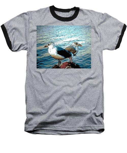 Two Gulls Baseball T-Shirt