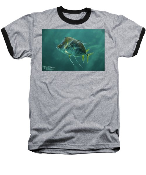 Two In Turquoise Baseball T-Shirt
