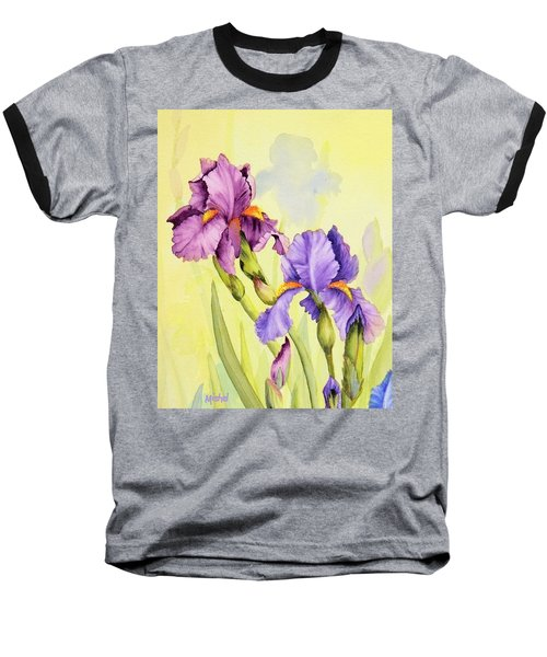Two Irises  Baseball T-Shirt