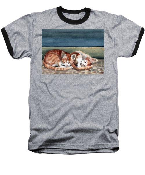 Two Kittens Baseball T-Shirt