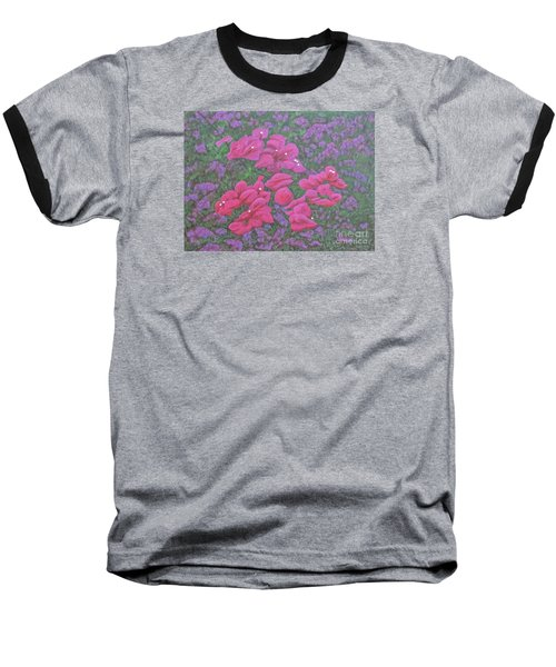 Two Layer Bougainvillea Baseball T-Shirt