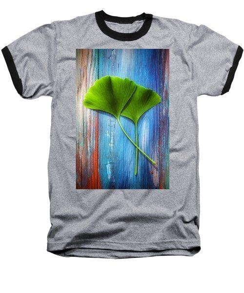 Two Leaves Of Ginkgo Biloba Baseball T-Shirt