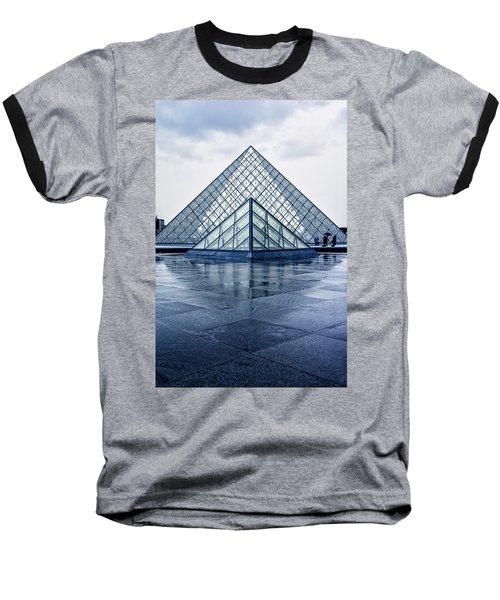 Two Louvre Pyramids Paris Baseball T-Shirt