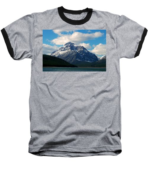 Two Medicine Lake And Rising Wolf Mountain Baseball T-Shirt