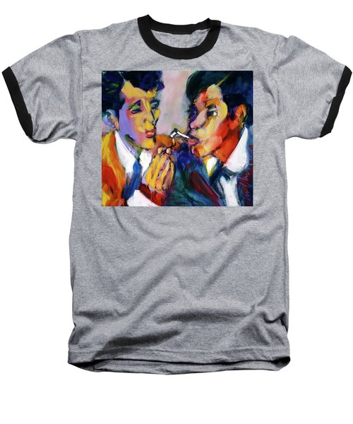Two Men On A Match Baseball T-Shirt