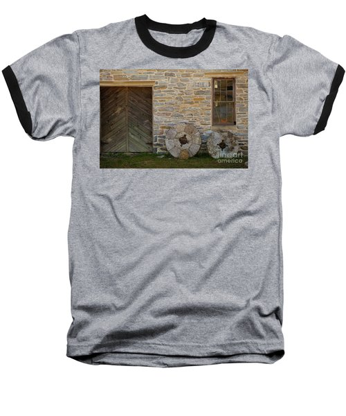 Two Mill Stones Against Building Baseball T-Shirt