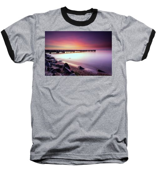 Two Minutes Of Blue Hour   Baseball T-Shirt