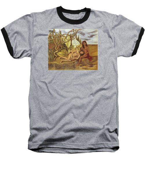 Two Nudes In The Forest Baseball T-Shirt by Frida Kahlo