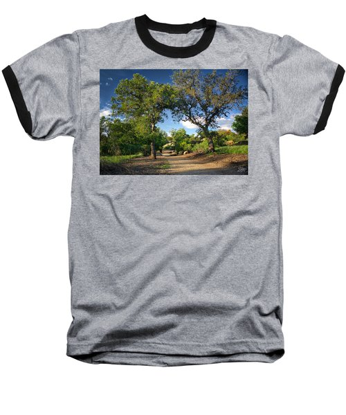 Two Old Oak Trees Baseball T-Shirt by Endre Balogh