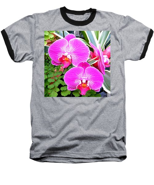 Two Orchids Baseball T-Shirt