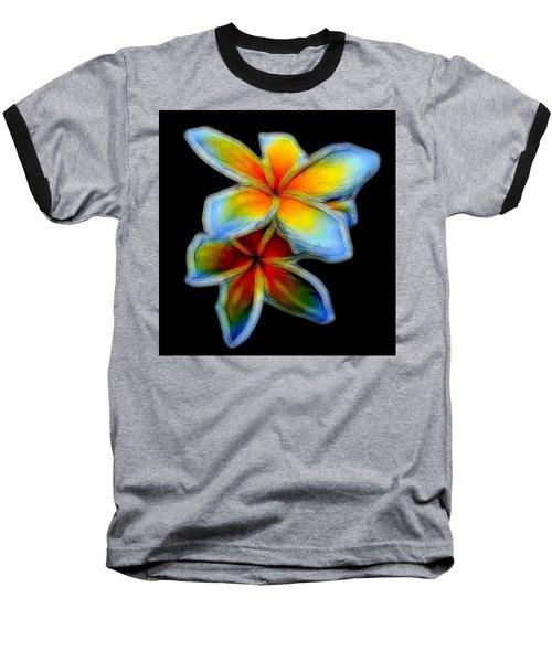 Two Plumerias Baseball T-Shirt