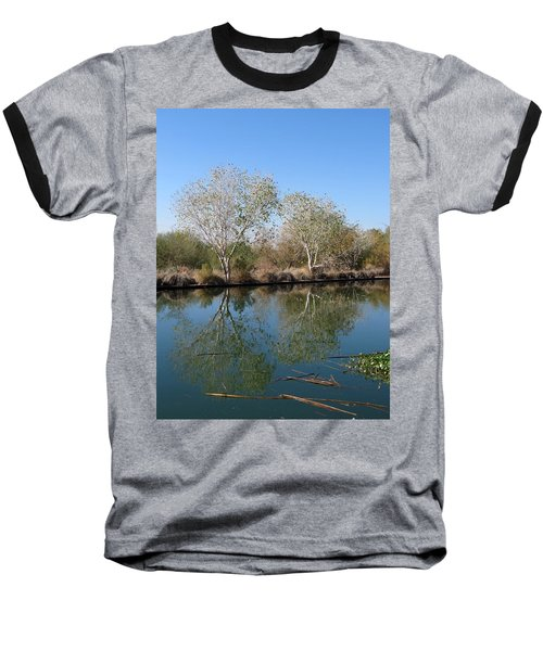 Baseball T-Shirt featuring the photograph Two Reflected by Laurel Powell