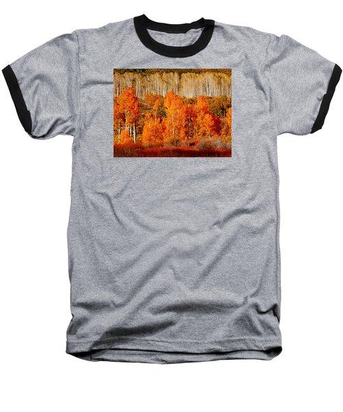 Two Rows Of Aspen Baseball T-Shirt