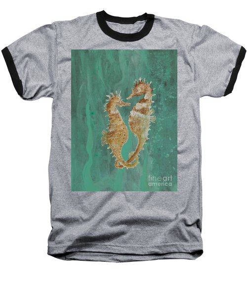 Two Seahorse Lovers Baseball T-Shirt