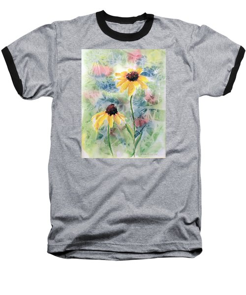 Two Sunflowers Baseball T-Shirt