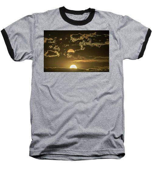 Two Suns Setting Baseball T-Shirt