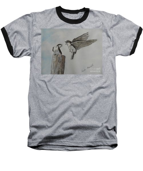Two Swallows Baseball T-Shirt