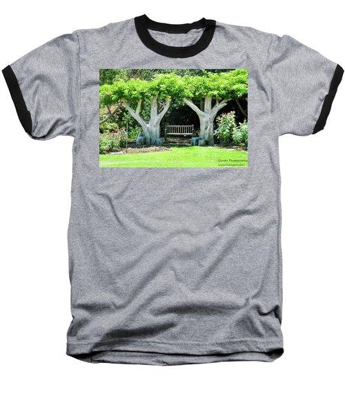Two Tall Trees, Paradise, Romantic Spot Baseball T-Shirt by Gandz Photography