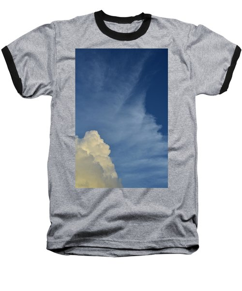 Two Tone Clouds 9384 Baseball T-Shirt